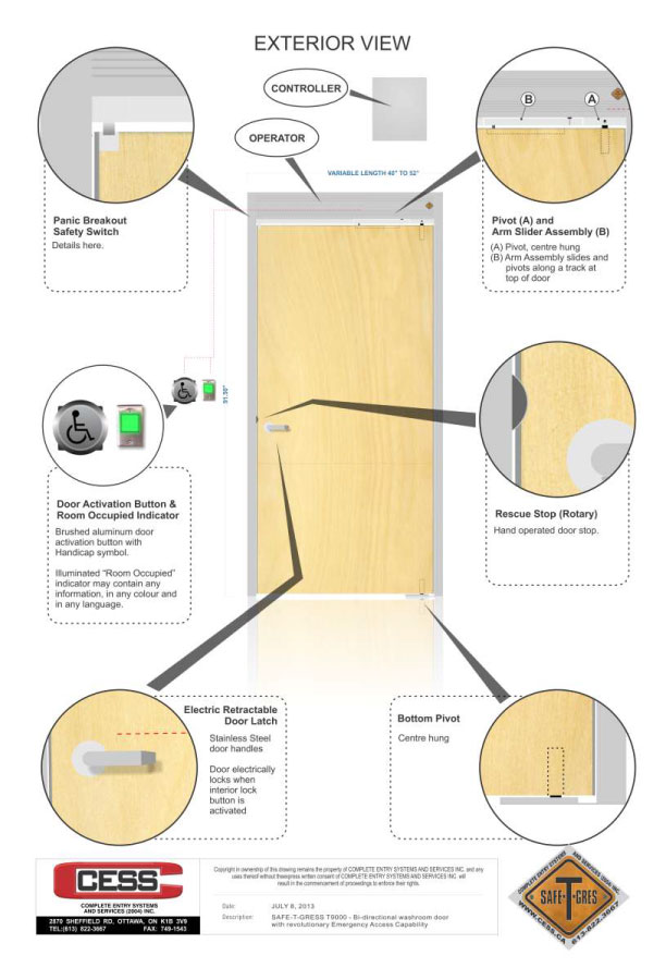 Double Acting Doors External View  sc 1 st  Safe-T-Gres & Double-Acting Doors Switch Directions Fast | Safe-T-Gres