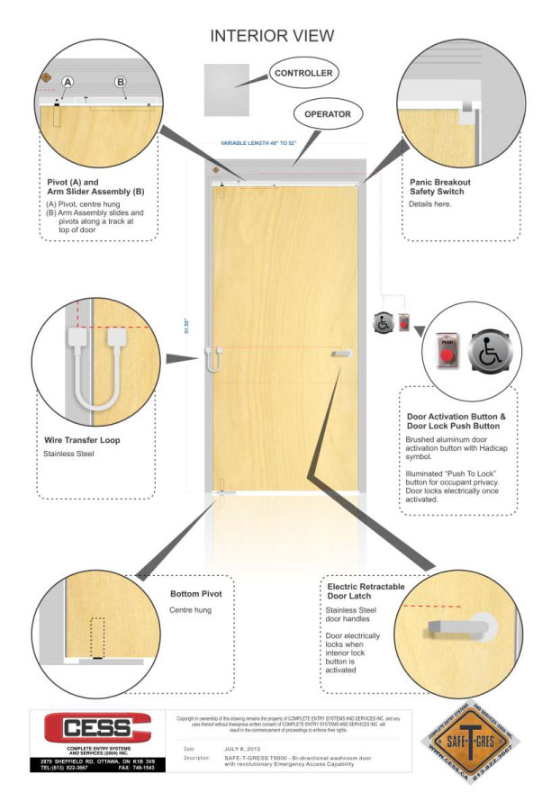 Double Acting Doors Switch Directions Fast Safe T Gres
